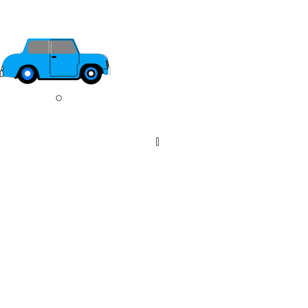 Animated Blue Car PNG Clip art