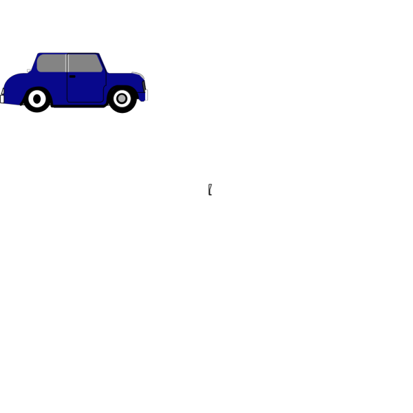 Animated Blue Car 3 PNG Clip art