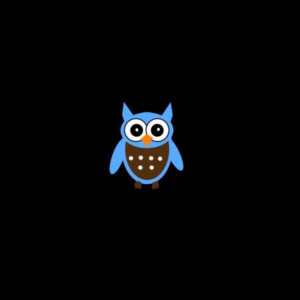 Cute Blue Owl 2 PNG Clip art