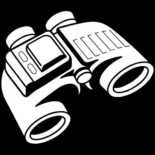 Blue White Binoculars PNG images