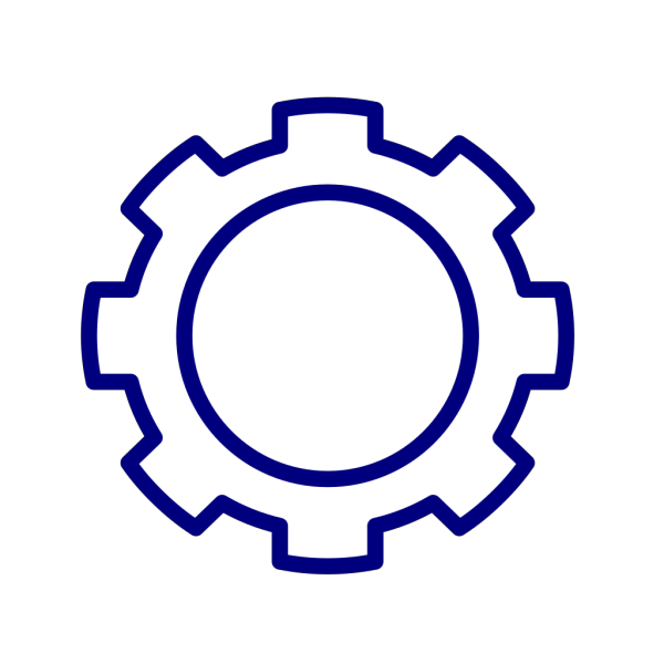 Blue Gear Cog PNG icons