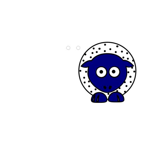 Sheep - White With Black Polka-dots And Blue Feet PNG Clip art