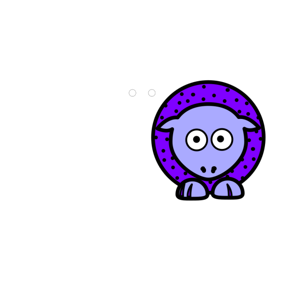 Sheep - Purple With Black Polka-dots And Blue Feet Wider Body PNG Clip art