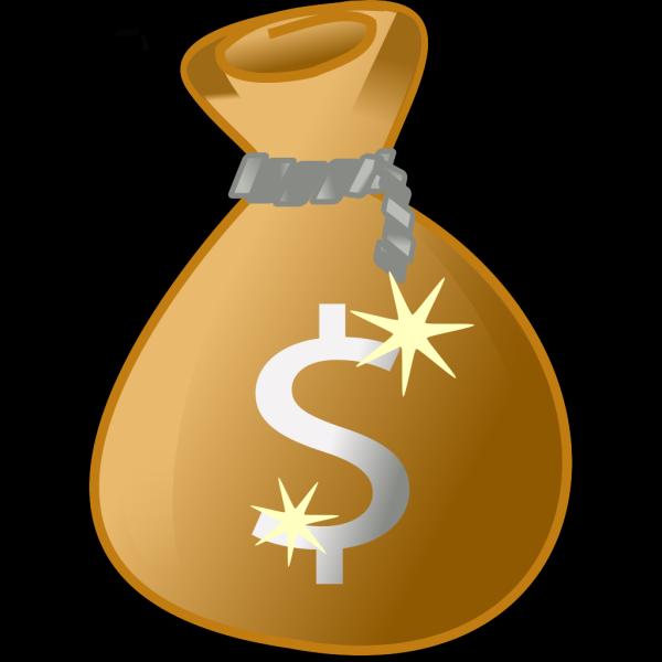 Blue Money Bag PNG Clip art