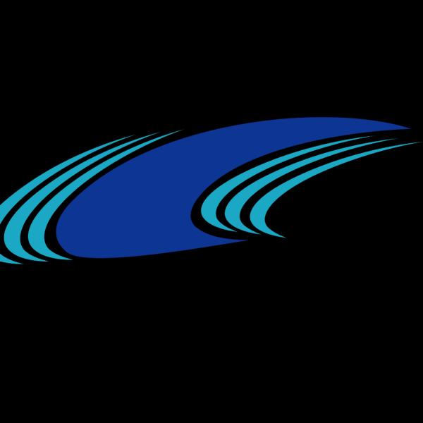 Blue Green Waves PNG Clip art