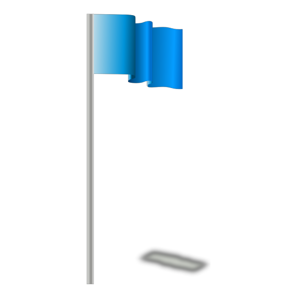 Blue Flag In The Wind PNG Clip art