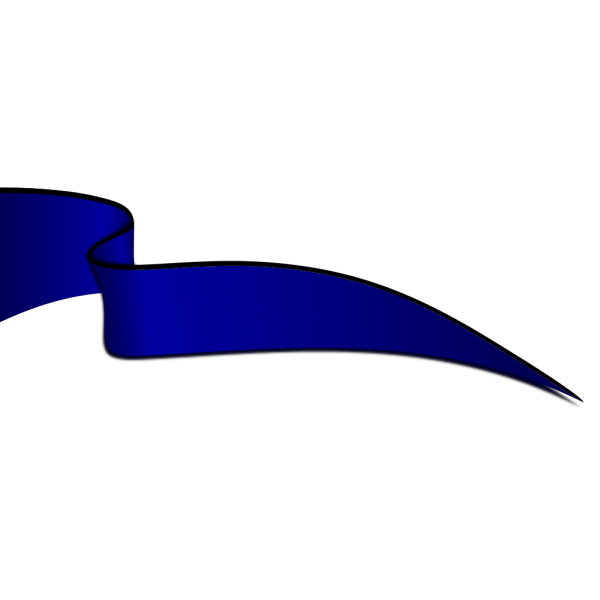 Dark Blue Ribbon In The Wind PNG Clip art