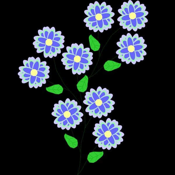Wild Blue Flowers PNG Clip art