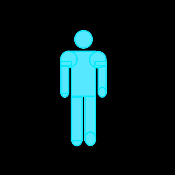 Blue Stick Figure PNG Clip art