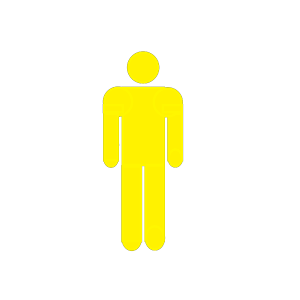 Yellow Stick Figure PNG Clip art