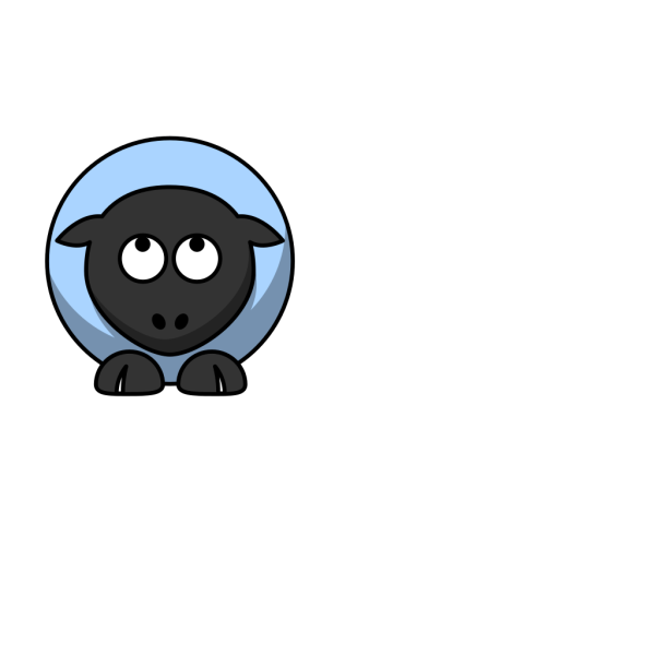 Sheep Looking Up Baby Blue PNG Clip art