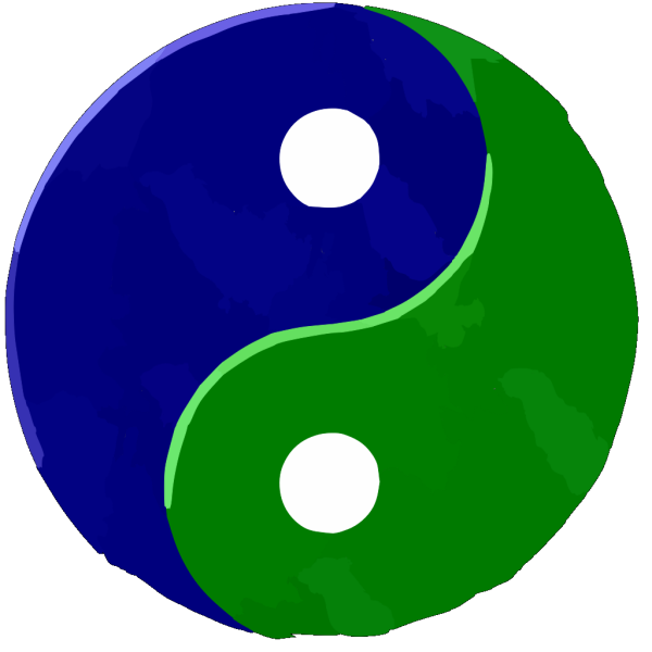 Yinyang Bluegreentextured PNG Clip art