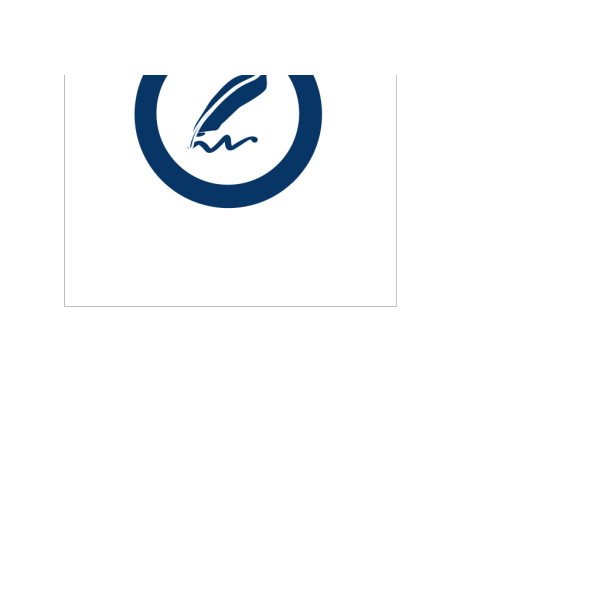 Blue Document Signature PNG images