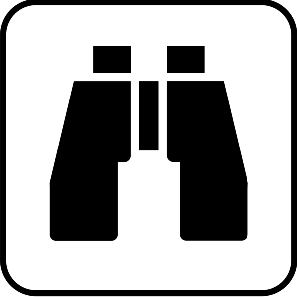 Blue Binoculars PNG icons