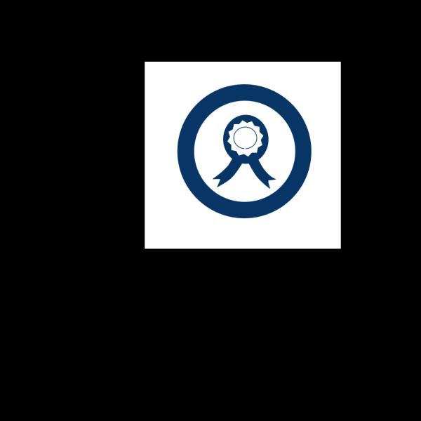 Blue Ribbon Circle 2 PNG Clip art