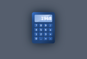 Blue Calculator PNG images