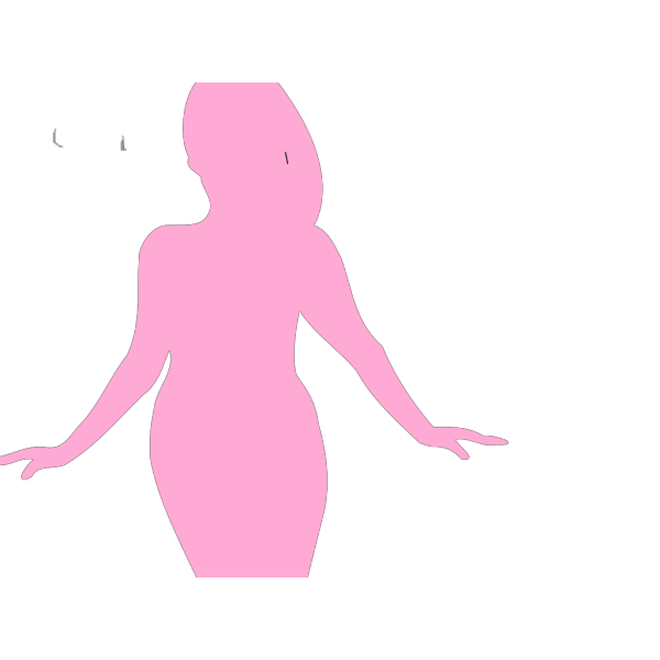 Curvy Woman Silhouette PNG Clip art