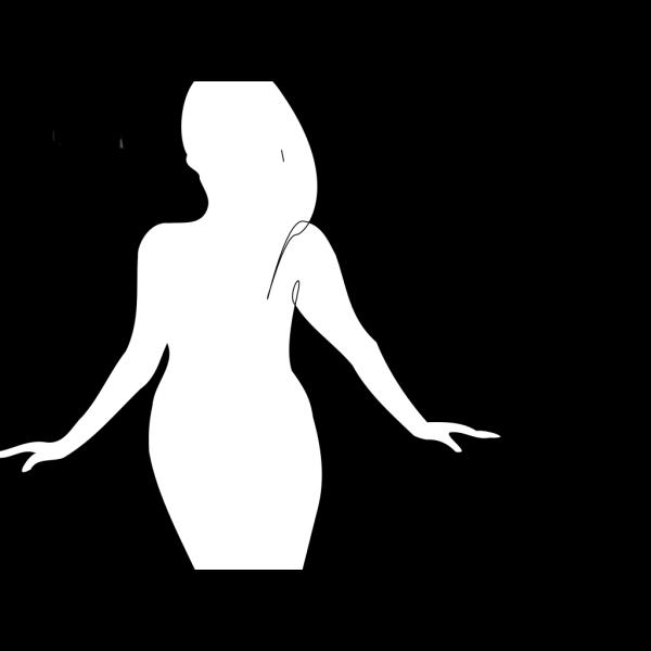 Curvy Woman Silhouette PNG Clip art