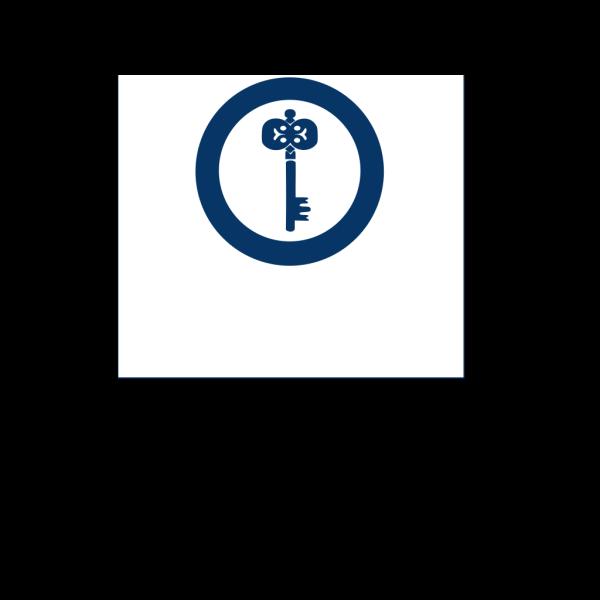 Blue Turn Key PNG Clip art