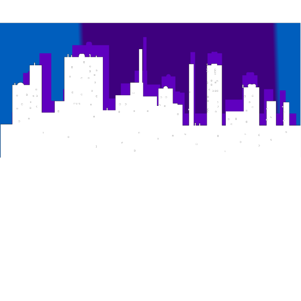 Blue Cityscape PNG Clip art