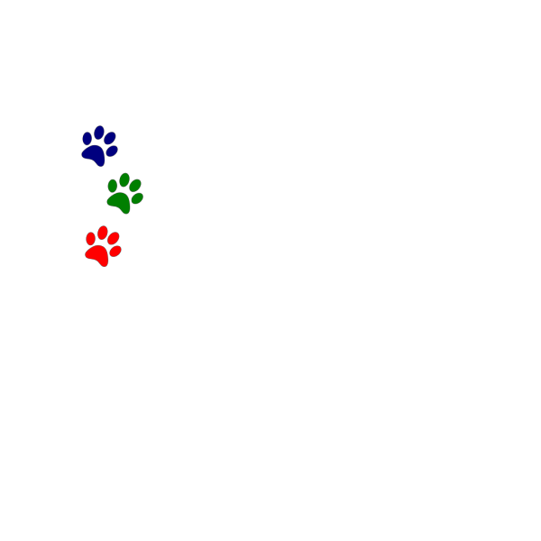 Paws Red Blue Green PNG Clip art