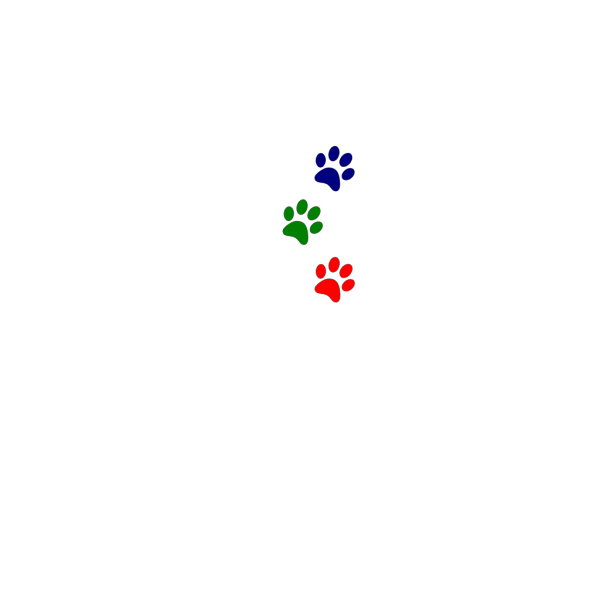Paws Green Red Blue PNG Clip art