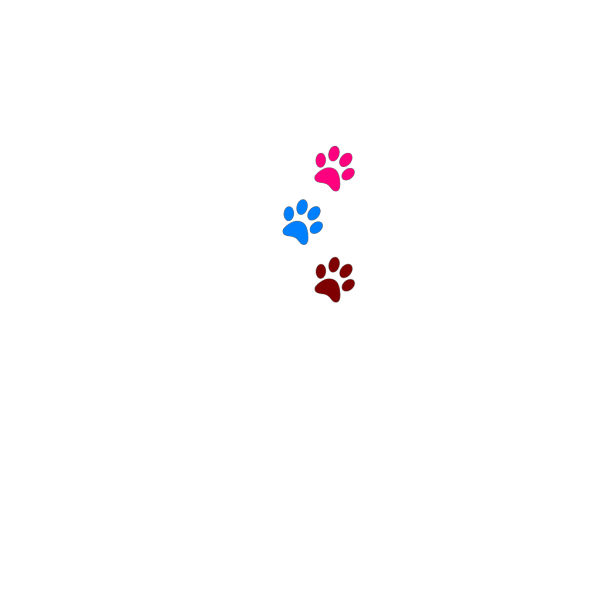 Paws Red Blue Green 1 PNG Clip art