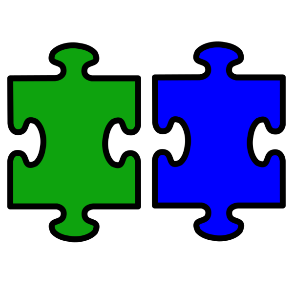 Puzzle Pieces Red And Blue PNG Clip art