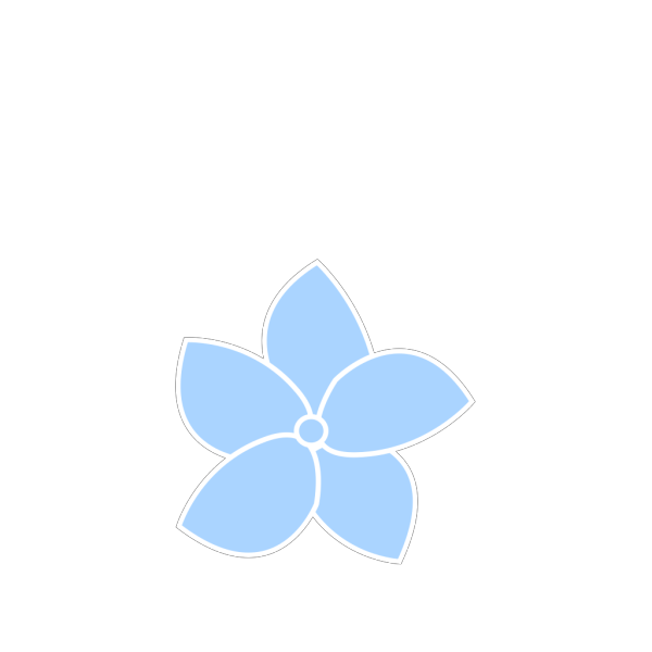 Hydrangea Blue PNG Clip art