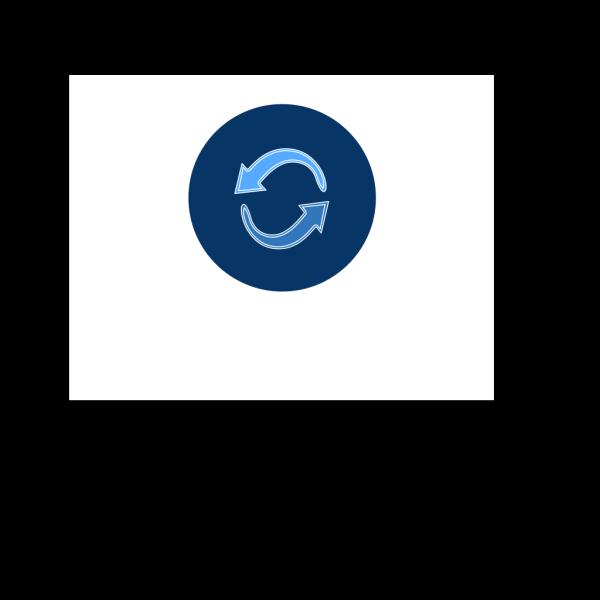 Blue Circle Arrows PNG Clip art