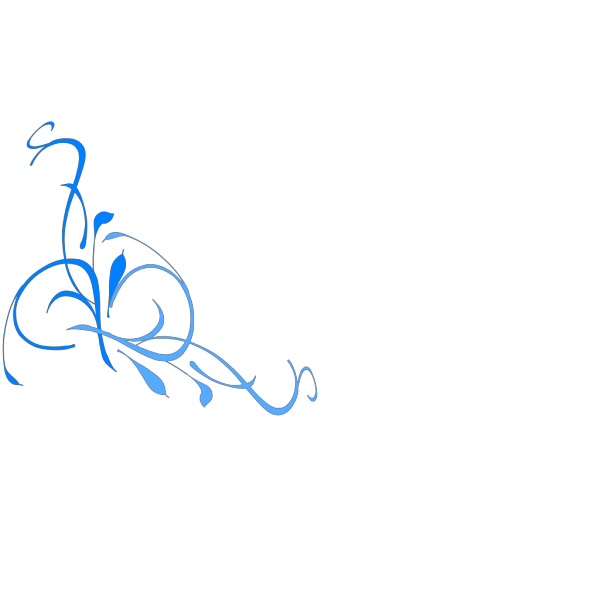 Floral Swirl Blues PNG Clip art