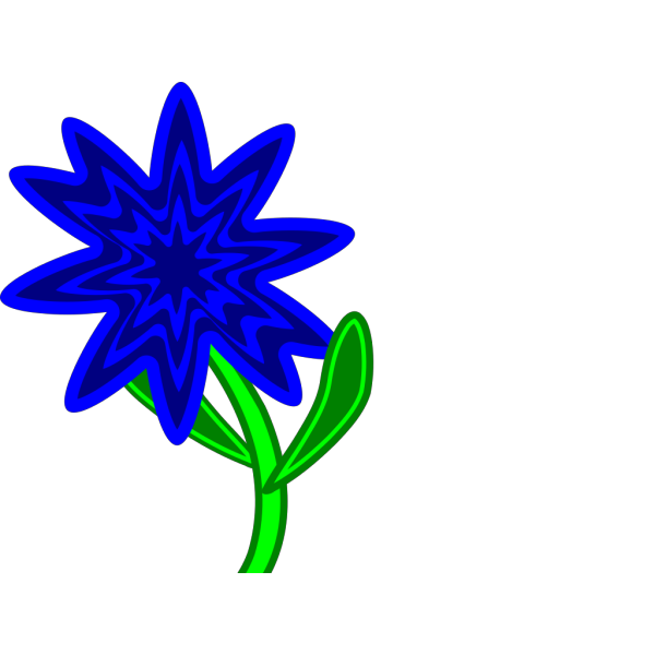 Blue Flower Stem PNG Clip art