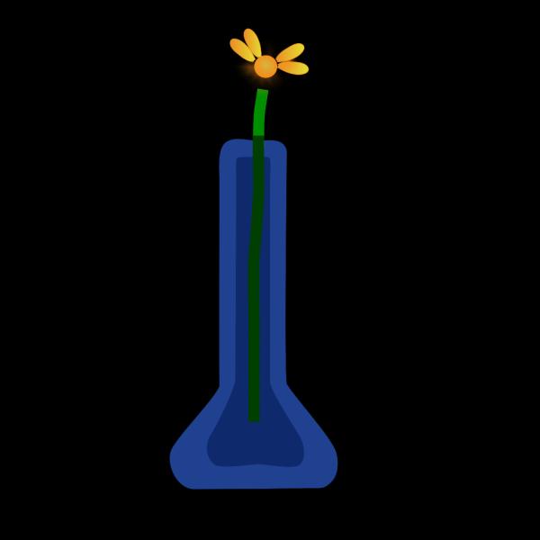 Flower In Blue Vase PNG Clip art