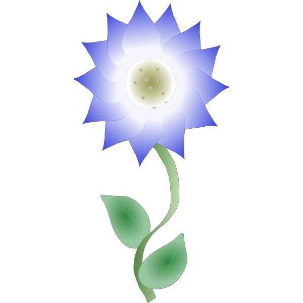 Growing Blue Flower PNG Clip art