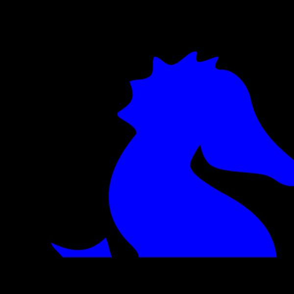 Blue Sea Horse PNG Clip art