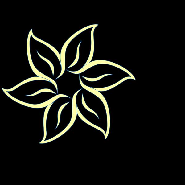 Yellow Blue Flower PNG Clip art