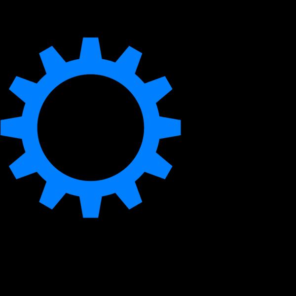 Blue Cog Wheel PNG Clip art