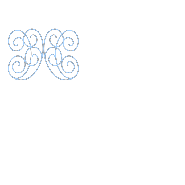 Blue Scroll Accent PNG Clip art