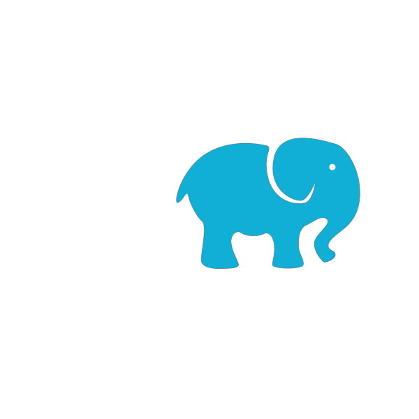 Elephant Blue PNG Clip art
