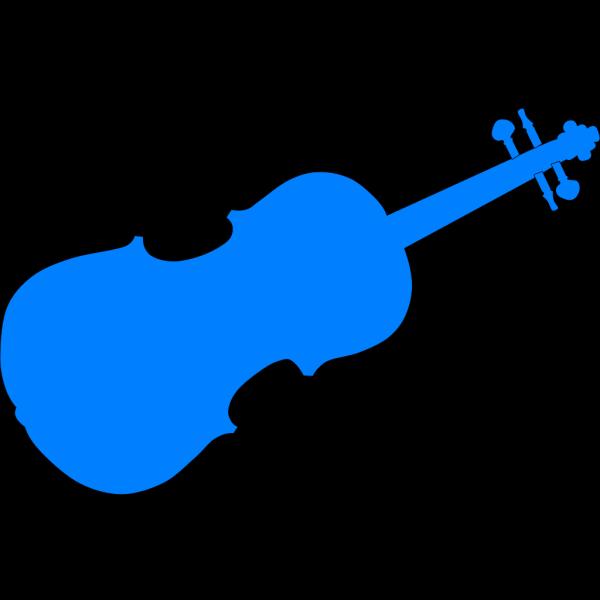 3 Blue Violins PNG Clip art