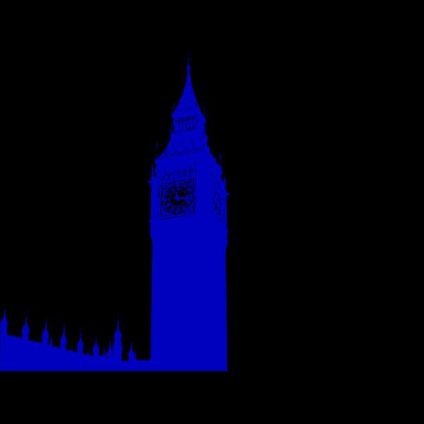 Big Ben Blue PNG Clip art