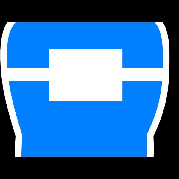 Toot, Blue, White Trim PNG Clip art