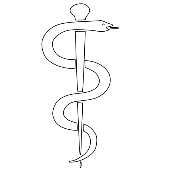 Rod Of Asclepius Upright PNG Clip art