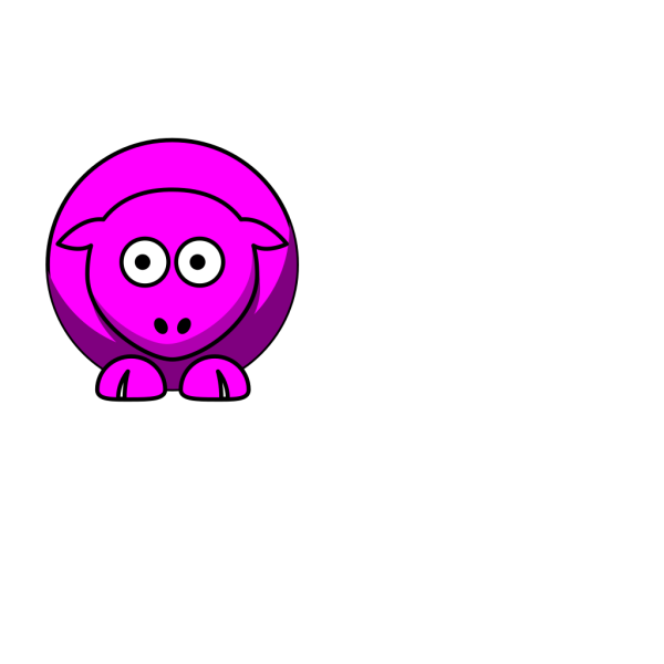 Sheep Looking Right PNG Clip art
