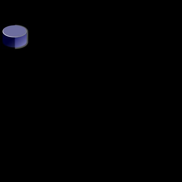 Blue Database PNG Clip art