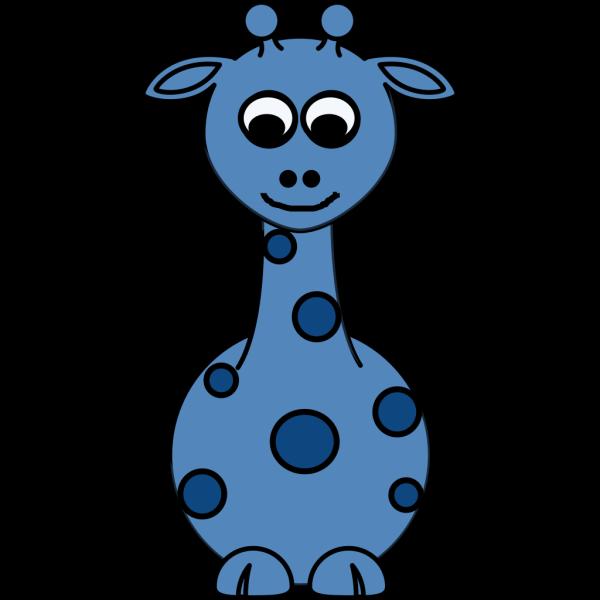 Giraffe Front Blue PNG Clip art