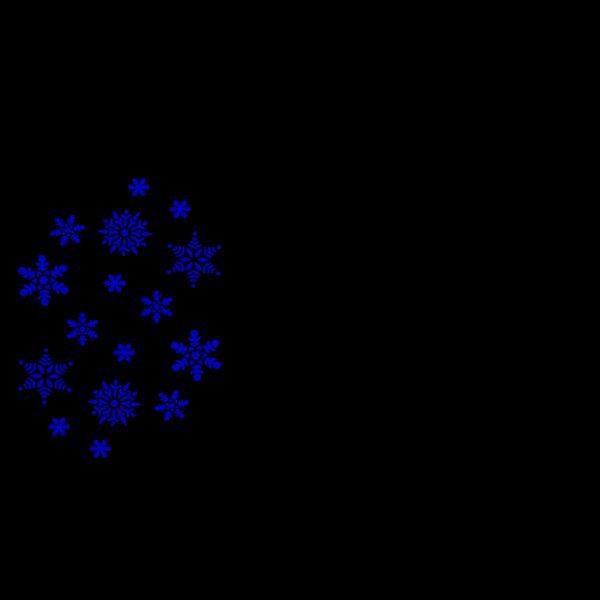 Blue Snowflake Flurry PNG Clip art