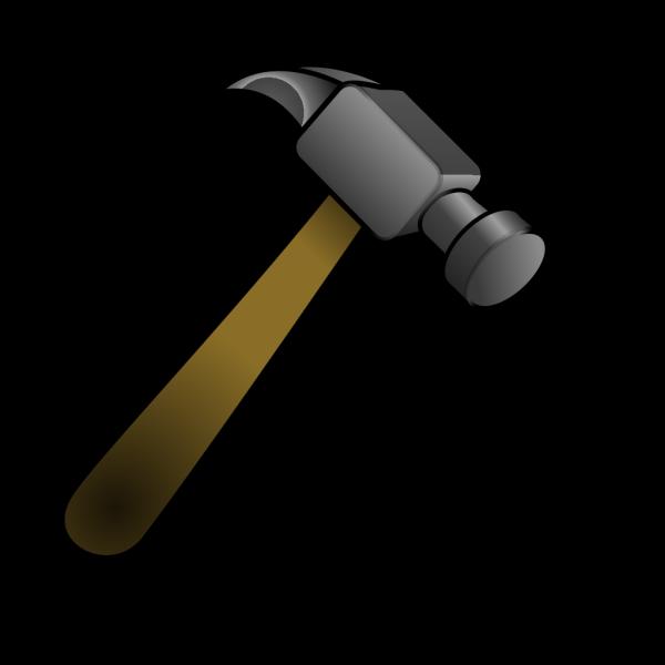 Blue Outline Hammer PNG Clip art