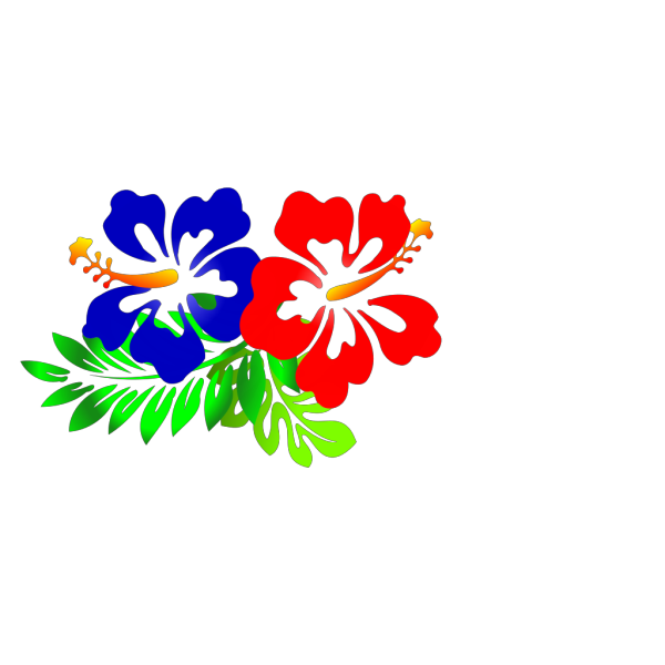 Blue Hibiscus PNG clipart