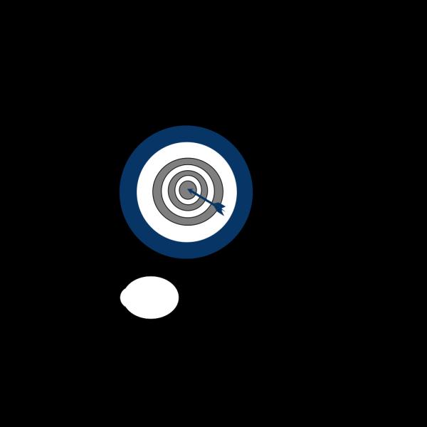 Blue Bulls Eye PNG Clip art
